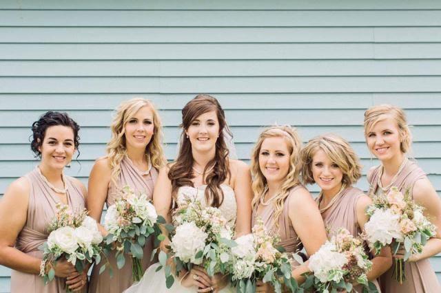 f57e57921c1 TDY Light Taupe Short Asymmetrical Bridesmaid Dress Convertible Dress  Infinity Dress Multiway Dress Wrap Dress Wedding
