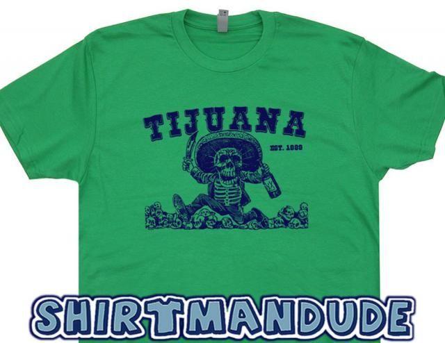 b45746e1 Tijuana Mexico T Shirt Tequila Shirts Skeleton Drinking Tijuana Shirt Funny  Drinking Shirts Retro Graphic The