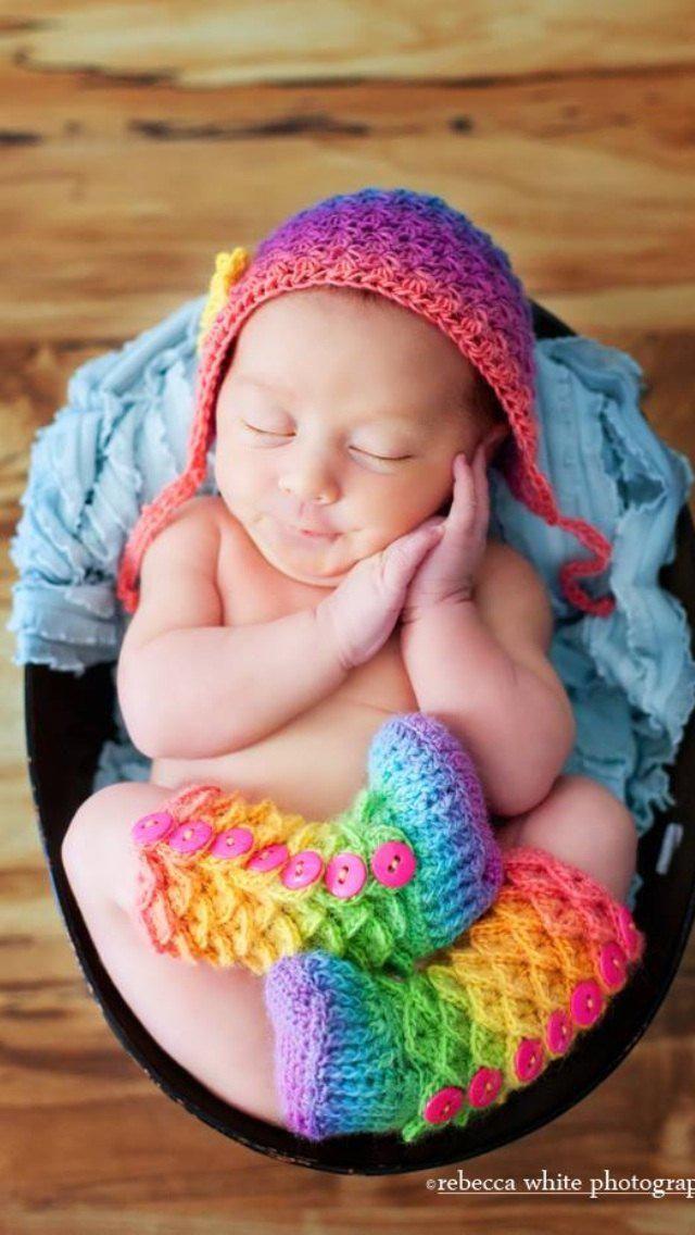 e3eb915c14f Crocodile Stitch Booties - Crochet Baby Booties - Newborn Photo Prop -  Rainbow Baby Outfit