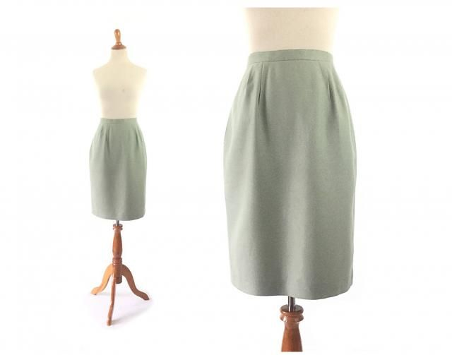 f4bed27fa XS mint Green Skirt Vintage skirt Pencil Skirt small Skirt Vintage Clothing  Skirts Women Bottoms Skirts