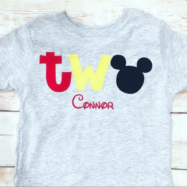 Mickey Mouse 2nd Birthday TWO Shirt Boy Outfit Second Disney