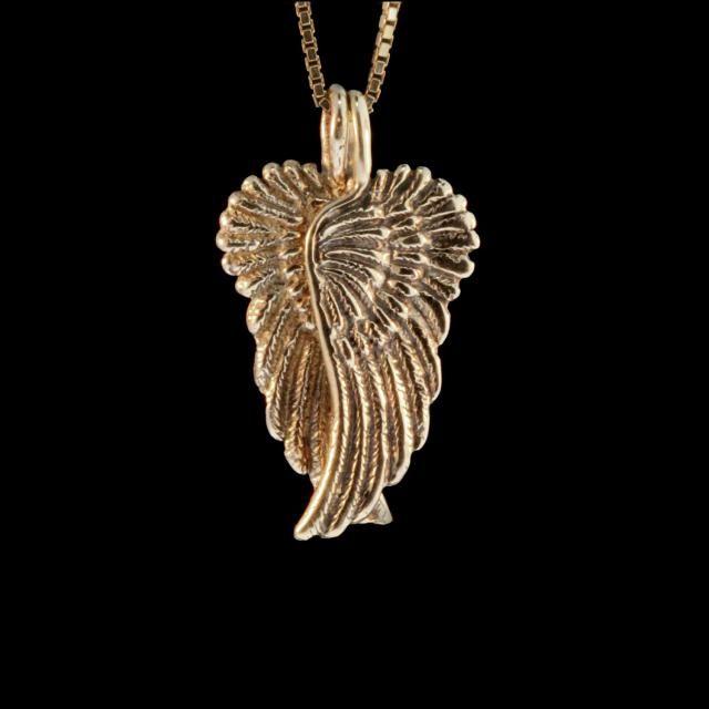 de5ab08a2 Angel Wing Necklace 14k Gold - Guardian Angel Wing Pendant - Angel Wing  Jewelry - Wing