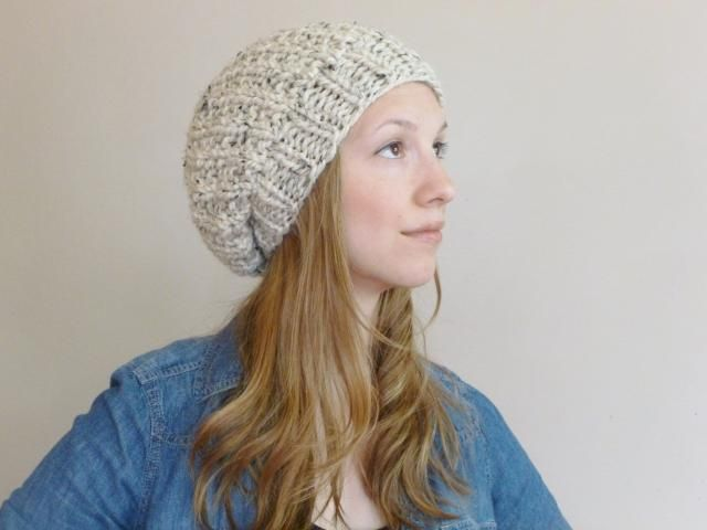 95c1bd59b0de34 Knit Slouchy Hat YOUR COLOR CHOICE, Slouch Beanie, Chunky Slouchy Beanie,  Oversized Knit