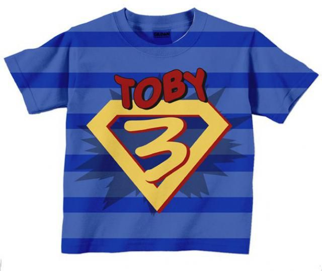 Superhero Birthday Shirt Personalized Boys Super Hero Number T Costume With Cape