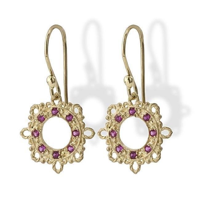 a34d01874 Gold Garnet Earrings, Garnet Gemstone Earrings, 14k Gold Earrings, Garnet  January Birthstone,