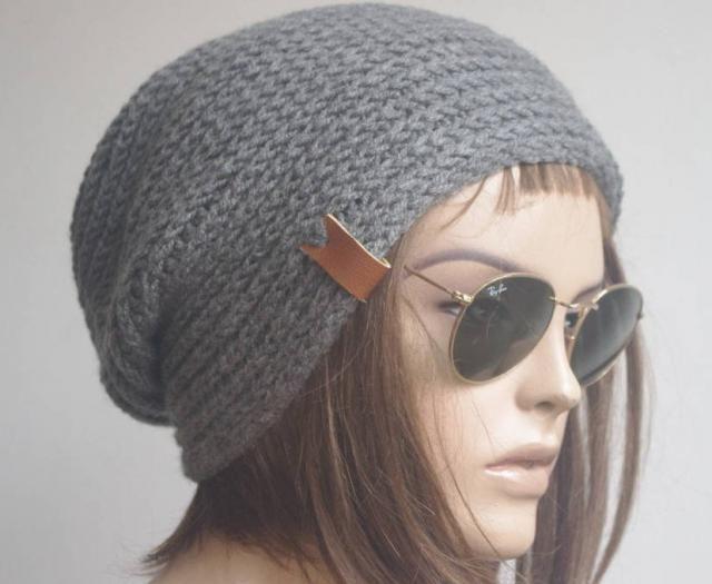 ec9220ac Men&;s Hat womens hat Winter Hat Gifts for Him dark gray Winter Hat