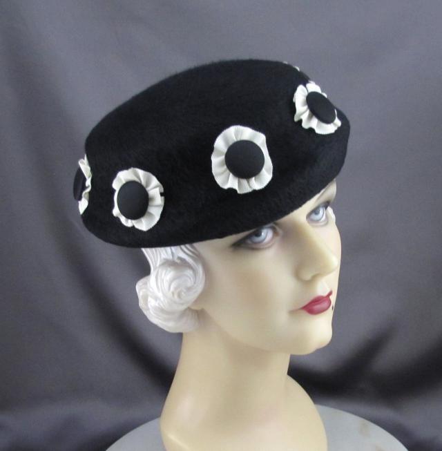 Womens Hats Black Fur Felt Globe Hat Handmade Mother of the Bride Church  Cloche Ascot Derby 0f10b7185dd