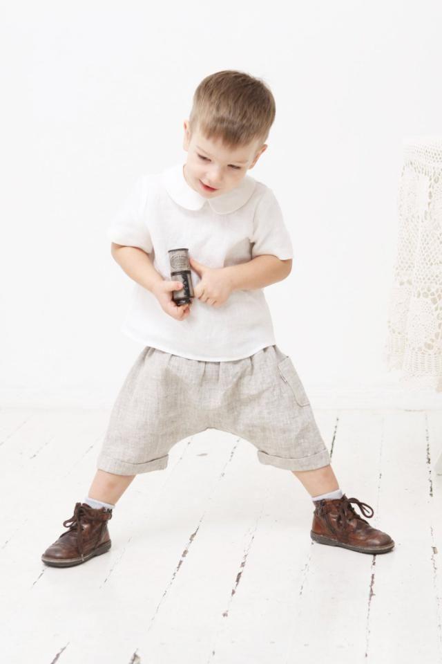 7af374268 Baby boy pants Sarouel pants Toddler boys harem shorts Linen pants Boys  trousers Boys linen clothes