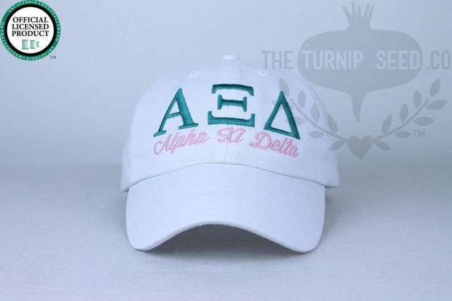 22661424ac6 Alpha Xi Delta Sorority Baseball Cap - Custom Color Hat and Embroidery.