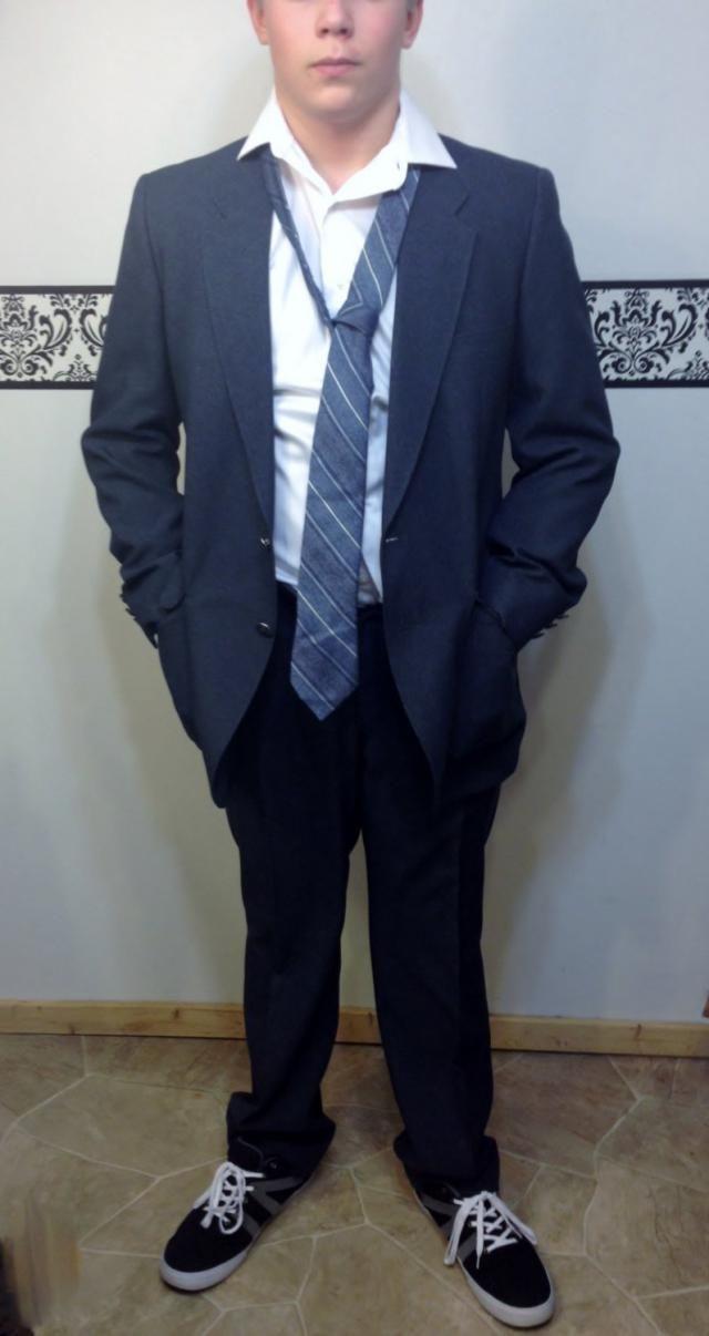 268c6df89 1950&;s Steel Blue Two Piece Men&;s Rockabilly Suit by Edgeworth