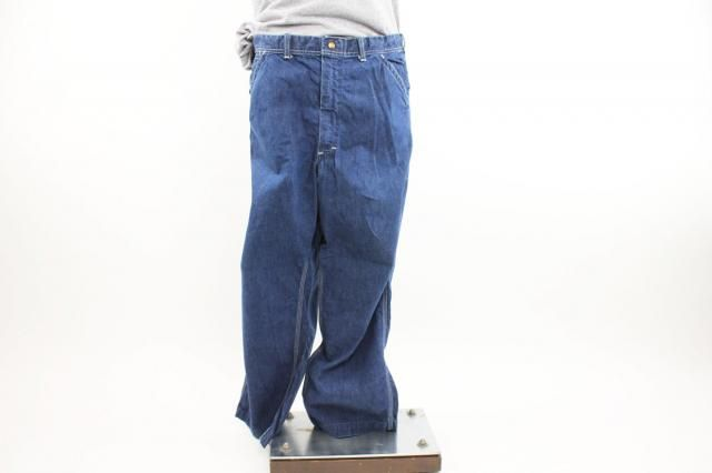262aa059 Vintage 70s LEE Dungarees Jeans Carpenter Pants Work Chore Jeans Blue Denim  Jeans Mens 1970s Size