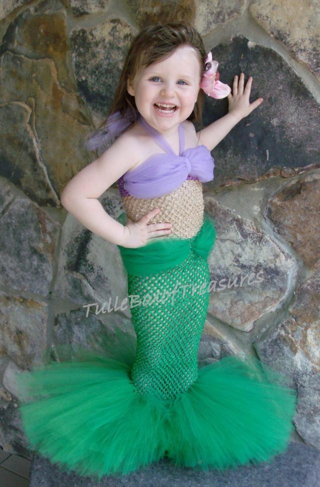 92c9f840c50a Adorable Mermaid Tutu Costume (Green)/Halloween/Little Birthday Outfit/Tutu  Costume