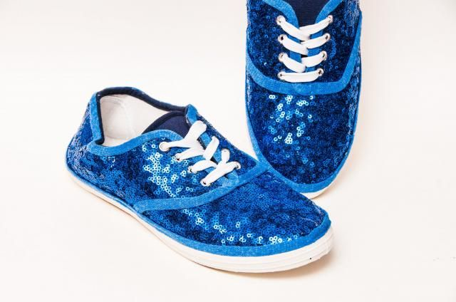 Tiny Sequin - CVO Sapphire Blue Canvas Sneakers Tennis Shoes 6be9f6c51