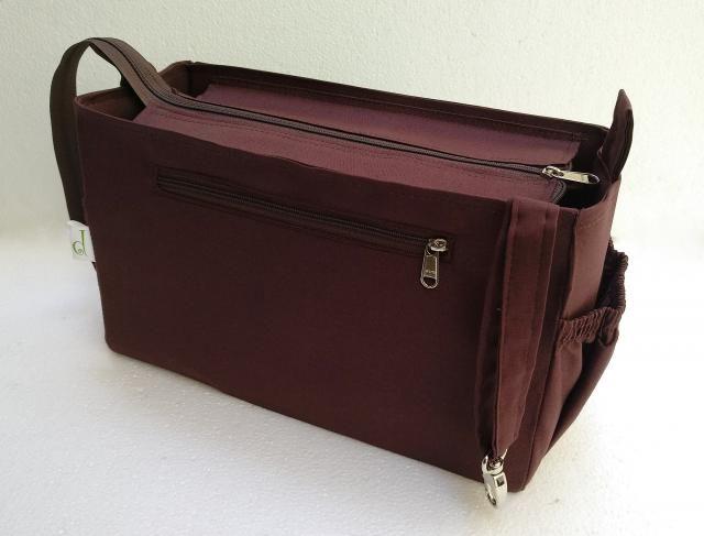 57c524d61d39 Purse organizer for Louis Vuitton Neverfull MM with Zipper closure- Bag  organizer insert