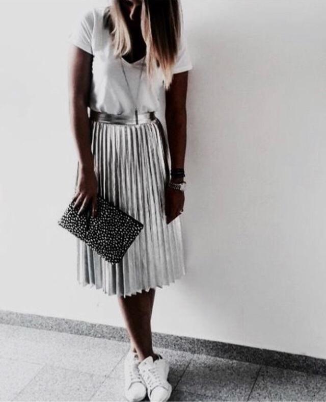 Pretty silver skirt