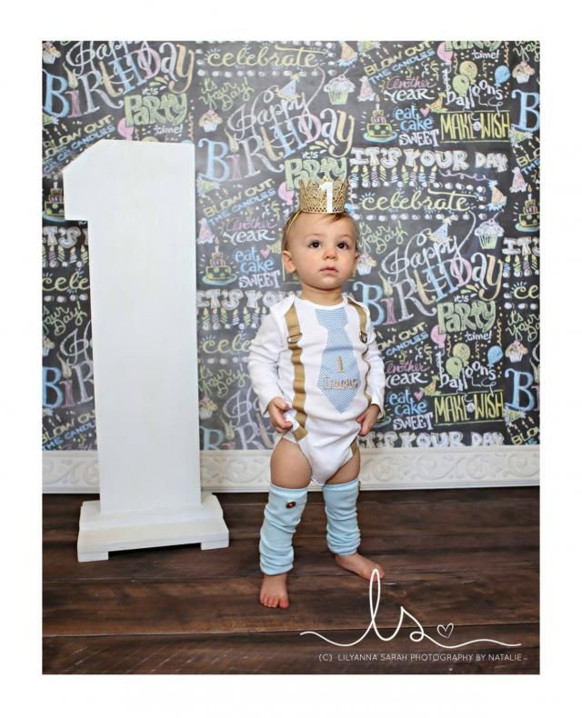 7df4414b7 Baby Boy 1st Birthday Cake Smash Outfit. Blue Gingham Personalized Tie and  Suspender Bodysuit &amp