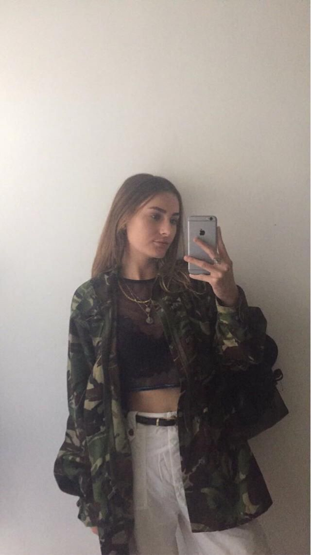 Camouflaged jacket is a wardrobe essential