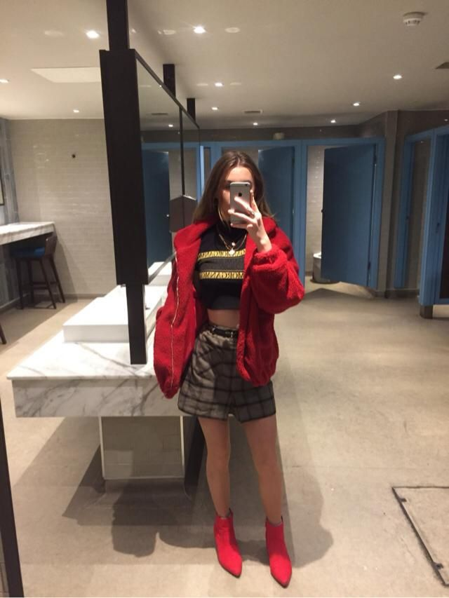 Mini skirts and fluffy jackets