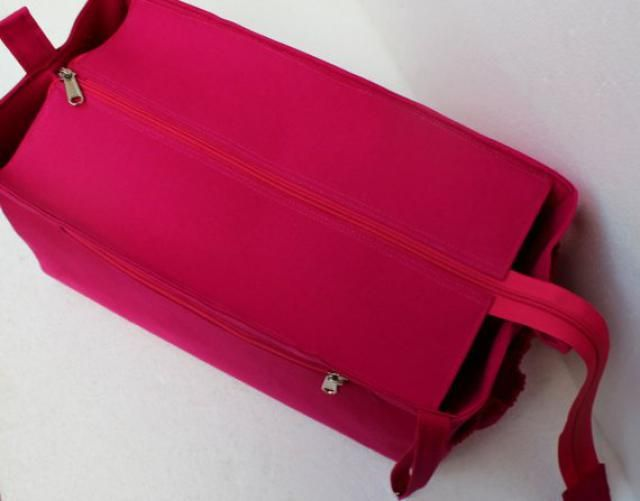 96fd7a4f92c4 Purse organizer for Louis Vuitton Neverfull MM with Zipper closure- Bag  organizer insert in Pink