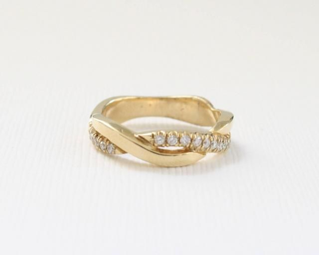 a27dd181a4d Twist Diamond Eternity Ring in 14K Yellow Gold