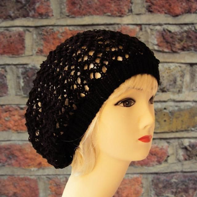 a6f66781b91 Black Slouchy Beanie Cotton Beanie Hat Summer Hats for Women Gifts for Her