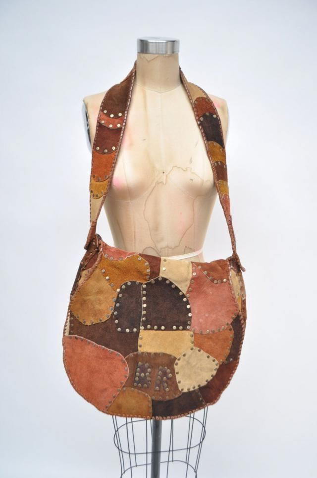 f9531488f04a vintage leather purse hippie couture bag hobo boho hand made large patchwork