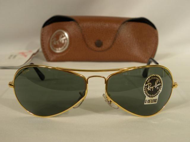 9b8cbb109c New Vintage B L Ray Ban Air Boss Gloss Gold G-15 W2615 Orbs Aviator  Sunglasses