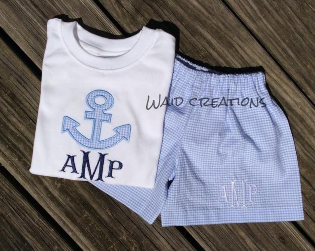 9db8e5c4 Boy monogram bathing suit Baby Toddler boy gingham swimsuit WITH matching  shirt