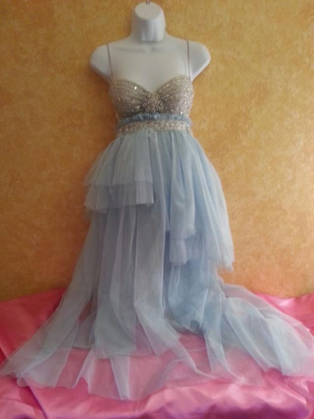3e8441e534 Something Blue Sex  amp  The City Carrie Style Bohemian Babydoll Multi  Layer Tulle Tutu Dress