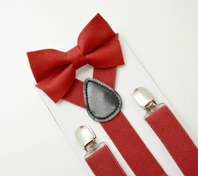 55676ebb1f7 Suspenders SET 8 months- Adult Kids Baby Boys Mens Red Suspenders  amp  Red  bowtie.  adult bow tie ...