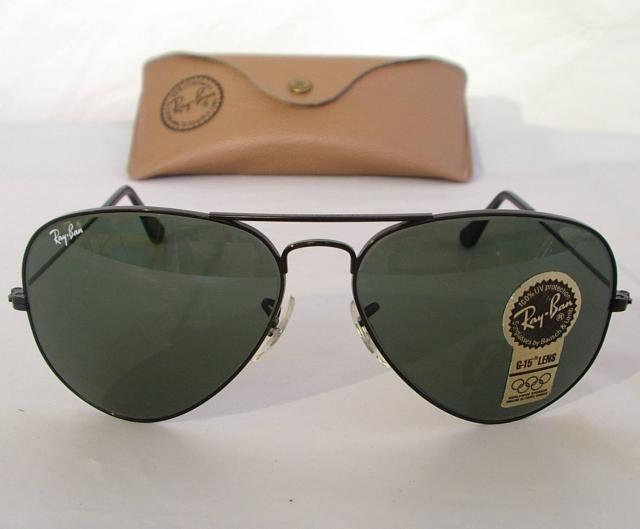 dc32a06d07e New Vintage B L Ray Ban Large Metal II Black G-15 L2821 62mm Aviator  Sunglasses