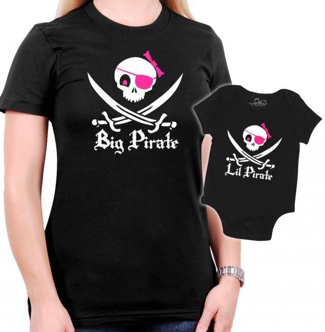 2287e45e Matching Pirate Mother/Daughter t-shirt - Jolly Roger Skull & ...