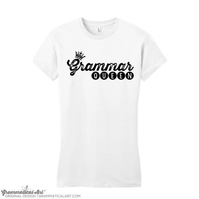 95dc297a44 Women Funny Grammar Shirt Grammar Police Grammar Queen Shirt English Teacher  Gift for Teachers Cool Funny