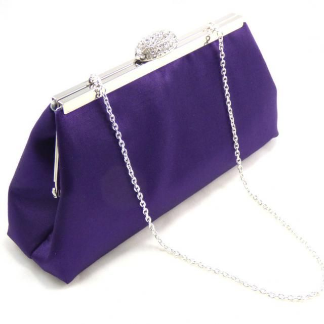4607c53bb40 Blackberry Purple and Silver Bridal Clutch, Bridesmaid Gift, Mother of the  Bride Gift,