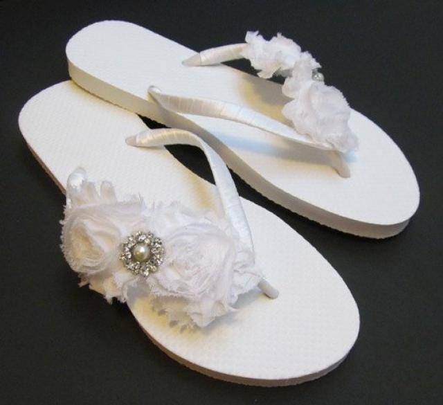 dd91a92912610f Bride Flip Flops Wedding Flip Flops Bridal Flip Flops