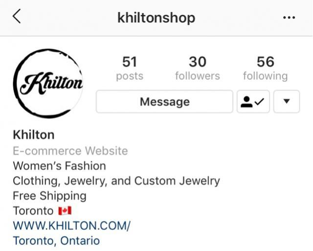 You can get you stuff now   Instagram acc: @khiltonshop   And you can you stuff from  WWW.KHILTON.COM/Toronto Ontario  …