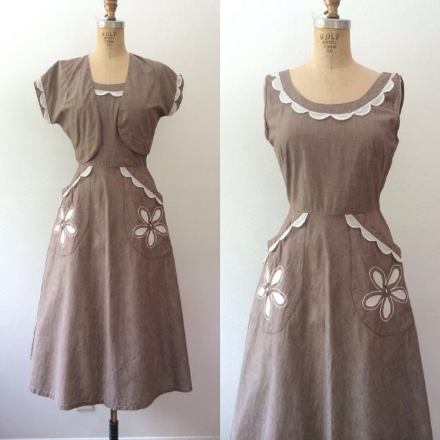 bb01c96c5d6f 1950s dress   1950s Vicky Vaughn dress   Calico Flower dress