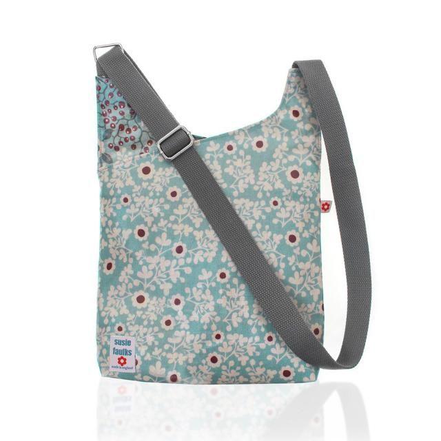 Constance Cross Body Oilcloth Bag Messenger Vegan Bags Susie Faulks