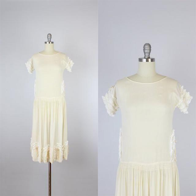 9a525f487d1e vintage 20s silk dress   1920s drop waist dress   floral lace dress    ribbon trim
