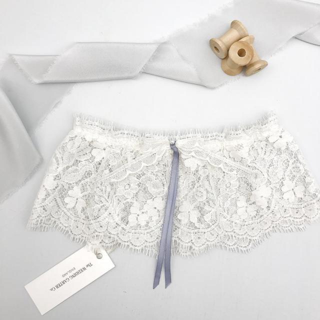 8b0d7130889 Lace wedding garter   ivory  amp  something blue