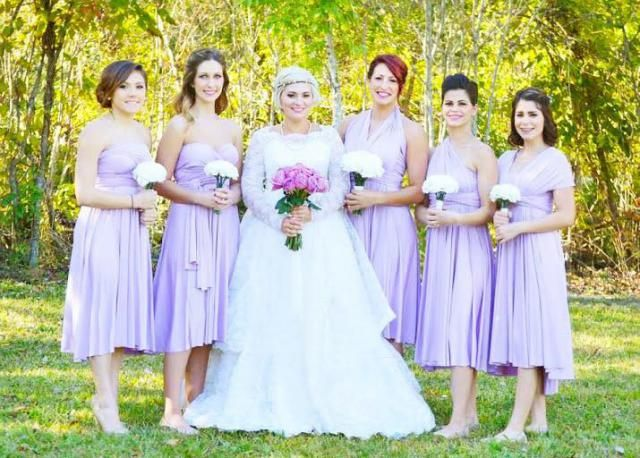 931c562d9e TDY Lilac Short Straight Hem Bridesmaid Dress Convertible Dress Infinity  Dress Multiway Dress Wrap Dress Wedding
