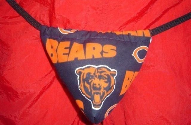 d7fabc315ae Mens CHICAGO BEARS G-String Thong Male Nfl Lingerie Football Underwear