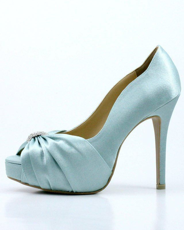 13d45d390f86 Something Blue Wedding Shoes with Rhinestones