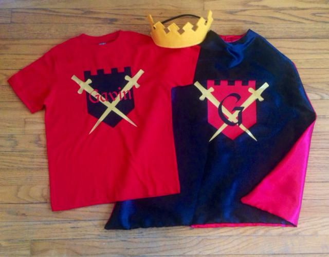 Personalized Knight Or King Superhero Cape Castle T Shirt And Crown Ultimate Boy