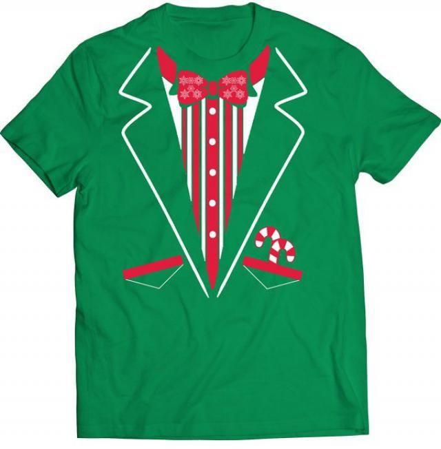 94a067eda7fc6 Funny Christmas Tuxedo Tee Shirt Tshirt Gift T-shirt Tee Youth Boys Kids  Girls Shirt