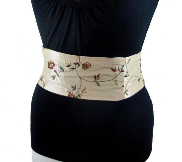 af64dfa1390 Gold Sash   Embroidered Mini Corset   Waist Cincher   Wedding Belt    Wedding Sash