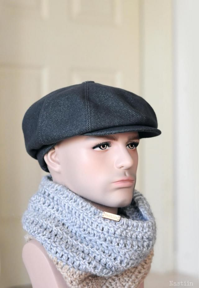 Blueish grey newsboy hat Mens newsboy cap Women newsboy hat Gray wool hat  Peaky Blinders hat 3c7b354991