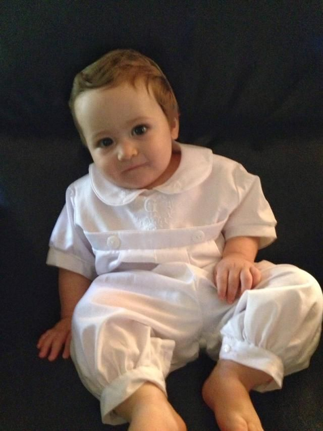 579f7bab6 Boy Christening Outfit - Boy Baptism Outfit - Baby Boy Christening Romper - Baby  Boy Easter