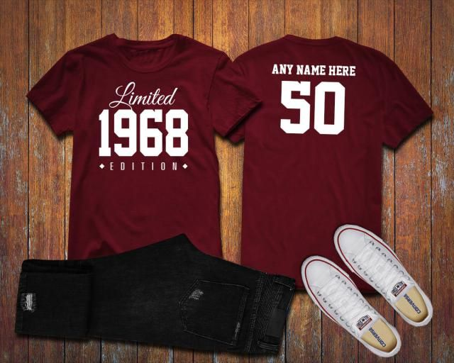82af5667f02 1968 Limited Edition 50th Birthday Party Shirt 50 Years Old