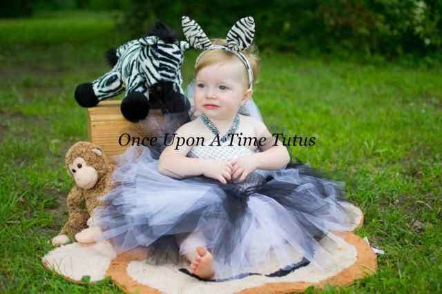 d8a06b276f Zebra Tutu Dress - Black White Zoo Animal Photo Prop, Wild Halloween Costume  - Kids